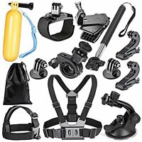 12 en 1 Profesional Kit Accesorios Bundle para GoPro HD Hero 4 3 + 2 1 SJ4000