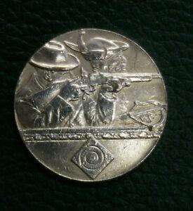 Geprägte Schützenmedaille 375 Jahre Ilsenburg/H., Kupfer versilbert, 1930