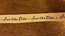 Save the date wedding twill ribbon invitations