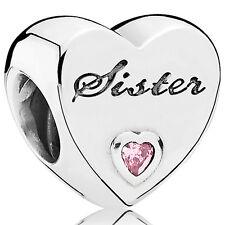 PANDORA Charm Element 791946 PCZ Sister Herz Silber Bead