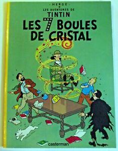 Album de Tintin les 7 boules de cristal édition souple