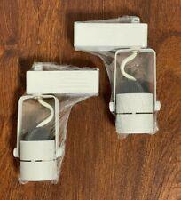 2 White Mini Round RKI 610543 / E204150 low voltage 120/12v LED track lights