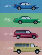 2002 Ford TAURUS/WINDSTAR/CROWN VICTORIA/E VAN Brochure / Catalog w/ Color Chart