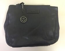 DKNY Soft Graphite Leather Clutch/Small Bag