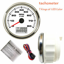 85mm 3 38 Tachometer 8000rpm Diesel Petrol Engine 7 Colors Backlight Usa Stock