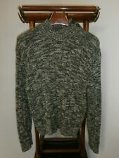 POLO by RALPH LAUREN XL Mock Neck Cable Knit Sweater Oatmeal Fleck -FAST SHIP-
