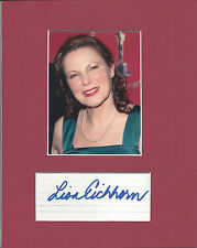 Lisa Eichorn Signed Matted with Photo COA 7/15 Choice of 8x10 signed to Bob
