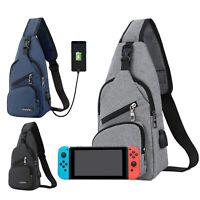 Backpack Travel Bag for Nintendo Switch Protective Crossbody Shoulder Sling Bag