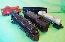 1950's Lionel Steam Train Set LOCOMOTIVE #2056 4-6-4 + TENDER AND 3 RAIL CARS