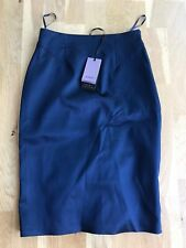 Coast Navy Blue Satin Pencil Skirt Size 8, Brand New With Tags Bodycon Ruffles