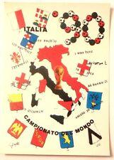 Cartolina Italia 90 Campionato Del Mondo Di Calcio