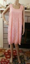 PINK BLUSH Size 3X Maternity Lace Dress Overlay Sleeveless Coral Pink Photo