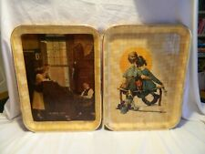 2 Vtg Saturday Evening Post Collection Norman Rockwell Trays