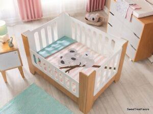 Baby GIRL CRIB Bedding Set KOALA BEAR NURSERY Comforter Baby Shower Gift Zoo 4PC