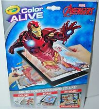 Marvel Avengers Color Alive 7 Crayons 16 Colouring Activity Book from Crayola