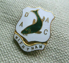 VINTAGE FISHING ANGLING ASSOCIATION CLUB BADGE PIN ENAMEL