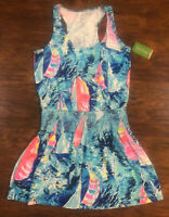 "Lily Pulitzer Tideline Dress Sail Boat Pattern ""Hey Bay Bay"" Size S Beach Tank"