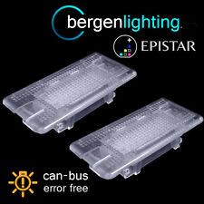FOR BMW X3 E84 2009 On X5 E53 2000-2006 24 LED BOOT FOOTWELL GLOVE BOX LAMP PAIR