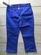 Nine West Ladies Blue Cropped Trousers Size 6 / 28.  Brand New With Tags.