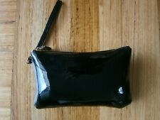 HButler MIGHTY PURSE GLOSSY PATENT LEATHER WRISTLET.BLACK.