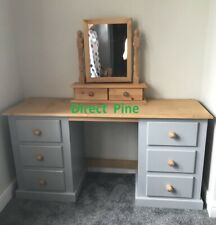 SHAFTESBURY 6 DRAWER DOUBLE DRESSING TABLE WITH MIRROR SET