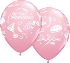 "On Your Communion Symboles Rose Qualatex 11"" Ballons En Latex x 5"