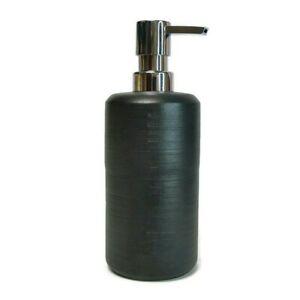 NEW Ceramic Textured Bath Liquid Soap/Lotion Dispenser Pump Black - Project 62