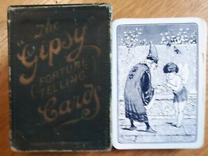 """PLAYING CARDS:  """"Gipsy"""" Fortune Telling cards by De La Rue. 1910."""