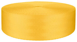 2 Inch Seat-belt Yellow Polyester Webbing Closeout, 50 Yards