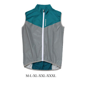 Running Cycling Reflective Vest Lightweight Breathable Mesh Bicycle Gilet