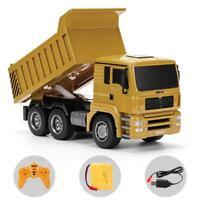 1:16 Four-Wheel Drive RC Dump Truck Plastic Truck Remote Control Toy Vehicles