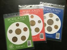 More details for very rare iceland icelandic sealed coin sets 1922-1946 1946-1967 1967-1980