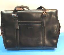 Franklin Covey XL Black Tote/ Laptop Case/ Purse/ Briefcase Faux Leather