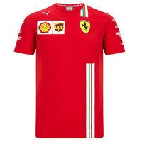 Mens Fanatics Scuderia Ferrari 2020 Team Sebastian Vettel T-Shirt