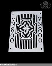 KAWASAKI VN800 VULCAN CLASSIC STAINLESS STEEL RADIATOR COVER GRILL GUARD - CROSS