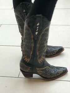 Ladies Designer corral cowboy/ cowgirl boots Size 4 ( USA 6.5)