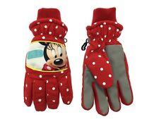 Disney Minnie Mouse Padded Winter Gloves - Girls Red Polka Dot Ski Gloves