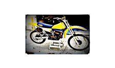 1979 suzuki rm125 Bike Motorcycle A4 Retro Metal Sign Aluminium