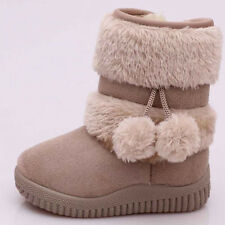 Cute Newborn Baby Girl Kids Snow Boots Winter Warm Soft Sole Crib Shoes Booties