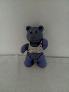 "Vintage Remco Dream Bear 'Cubby' - Purple Bear Poseable Figure - 3.5"" - 1984"