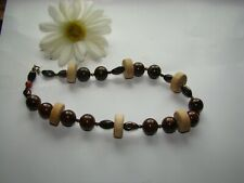 Vintage Very Pretty Chunky Wood Necklace