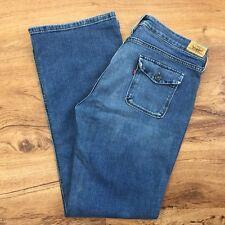 Levis 545 Low Boot Cut Jeans 12M Stretch Denim Button Flap Back Pkts Womens 12 M