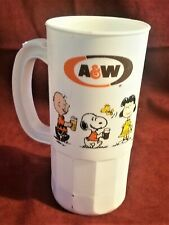 A&W Root Beer. A rare A&W white Snoopy plastic drink mug