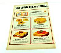 """G E Toaster Sandwich Cheese Tuna Burger San Francisco Vtg Print Ad 13.5""""x10"""" AK"""