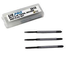 M2 x 0.4mm THREAD TAP TAPER SECOND & PLUG SET by US PRO TOOLS HSS thread repair