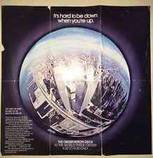 World Trade Center New York City Ground Zero Twin Tower Brochure Deck 1970's