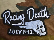 ECUSSON PATCH THERMOCOLLANT toppa aufnaher LUCKY 13 THIRTEEN racing death custom