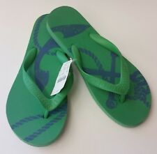 J Crew Shoes Sandals Green Blue Flip Flops Thong Womens Size 8 M