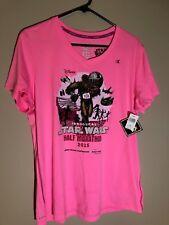 2015 runDisney Inagural Disneyland Star Wars Half Marathon Shirt Pink Womens Xl
