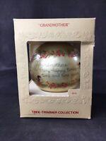 VINTAGE Hallmark Grandmother Glass Christmas Ornament 1979 Tree-Trimmer Collecti